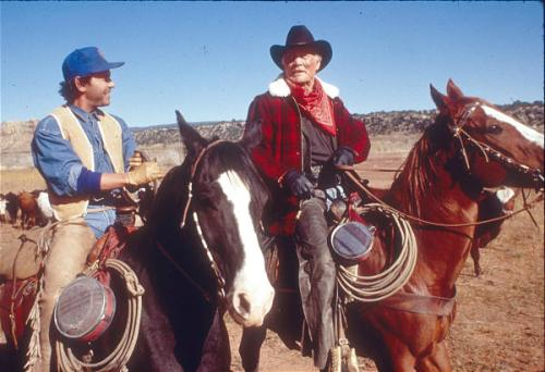 "Billy Crystal and Jack Palance in ""City Slickers."" Photo by Bruce McBroom"